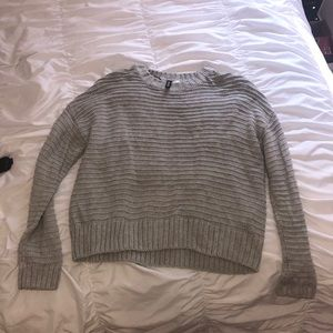 Grey knit h&m sweater